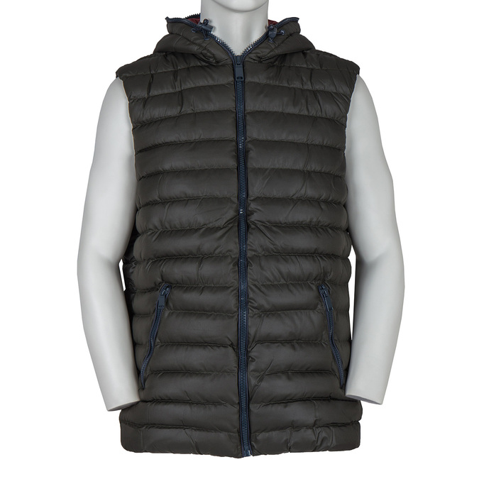 Men's Quilted Vest bata, green, 979-7116 - 13