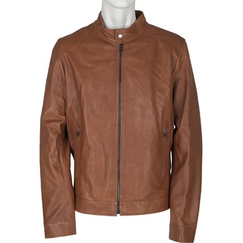 Men's Leather Jacket bata, brown , 974-0154 - 13