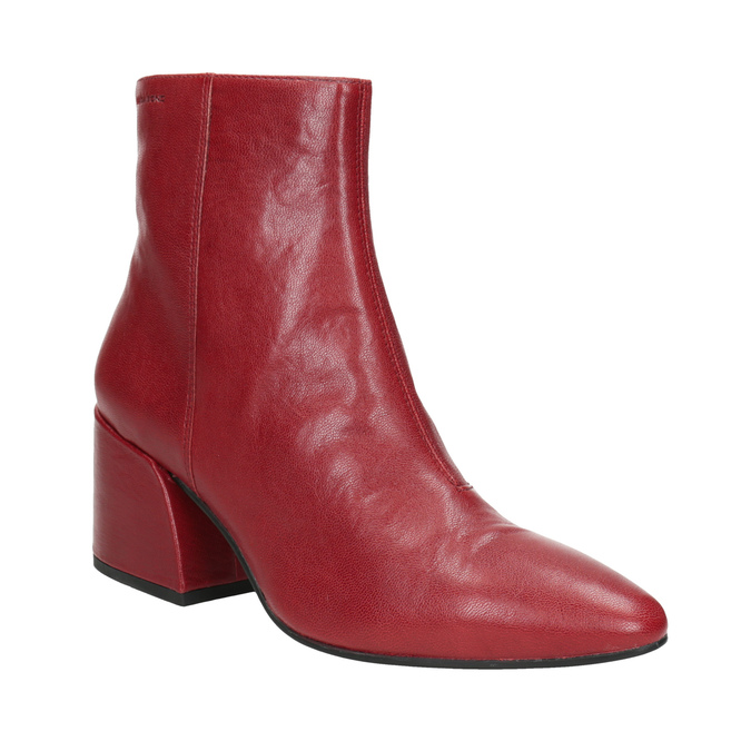 Red Leather High Boots vagabond, red , 716-5038 - 13
