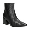 Leather High Boots with Chunky Heel vagabond, black , 716-6038 - 13
