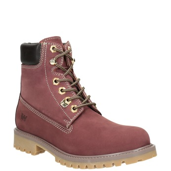 Thick-Soled Ankle Boots weinbrenner, red , 596-5664 - 13