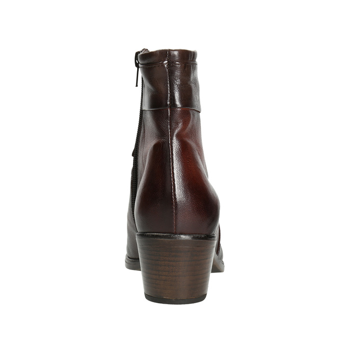 Ladies' leather high ankle boots bata, brown , 696-4653 - 16