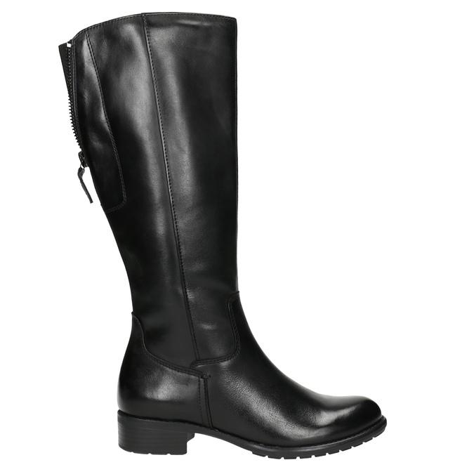 Ladies' leather Cossacks in black bata, black , 596-6604 - 15