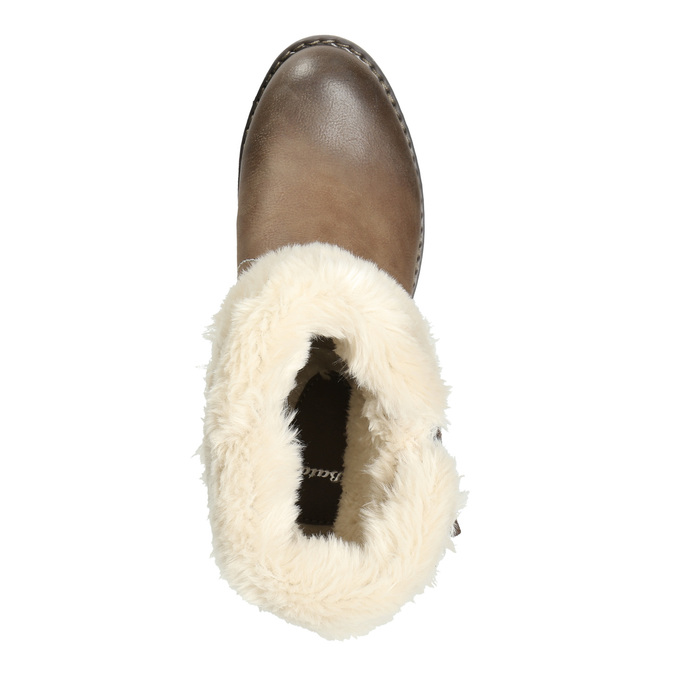 Ankle Boots with Fleece bata, brown , 691-2633 - 26