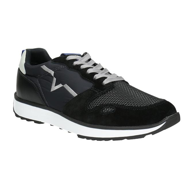 Men's casual sneakers diesel, black , 809-6638 - 13