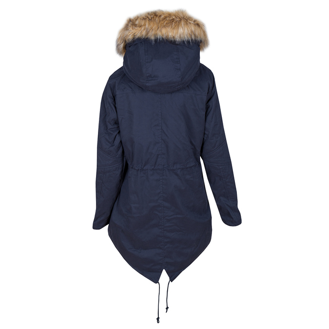 Ladies' Parka with Removable Fur bata, blue , 979-9131 - 26