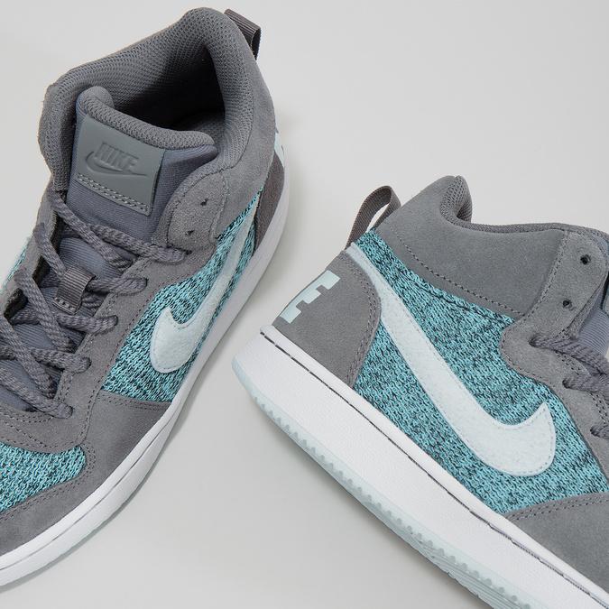 Children's High-Top Sneakers nike, gray , 401-2108 - 18