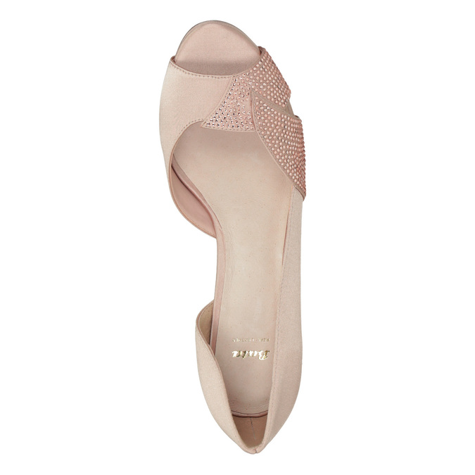 Formal Pumps with Rhinestones bata, pink , 729-8613 - 17