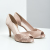 Formal Pumps with Rhinestones bata, pink , 729-8613 - 26