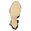 Ladies' party sandals with rhinestones bata, black , 729-6611 - 17