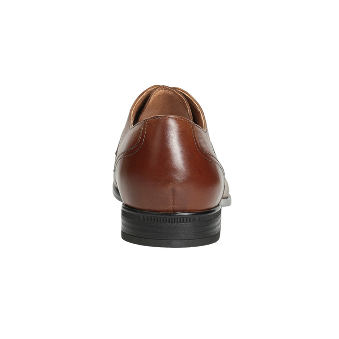 Men's brown leather shoes bata, brown , 826-3758 - 15
