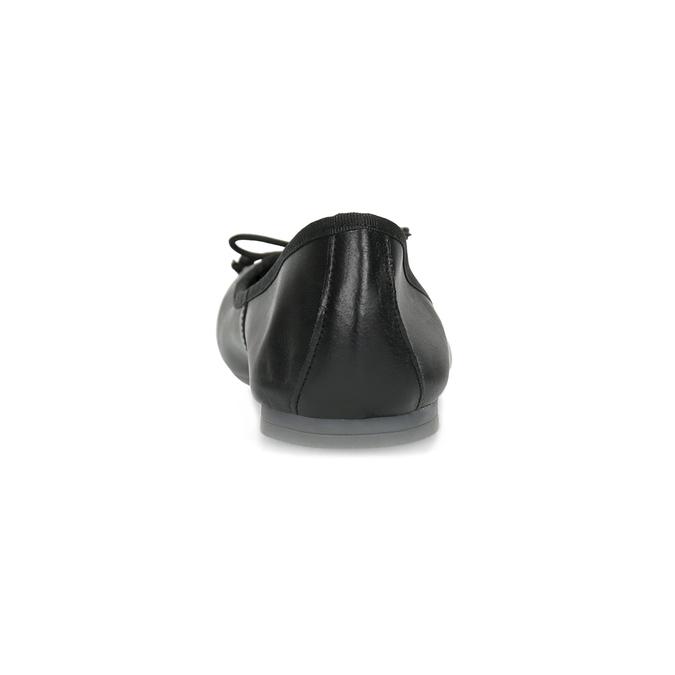 Leather ballerina shoes bata, black , 524-6144 - 15