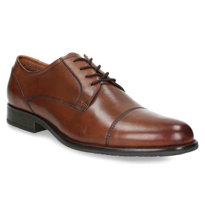 Men's dress shoes with stitching, brown , 826-4995 - 13