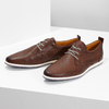 Casual leather sneakers bata, brown , 824-4124 - 16