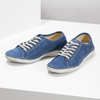 Casual leather low shoes weinbrenner, blue , 546-9603 - 16