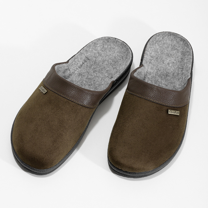 Men's slippers bata, brown , 879-4600 - 16