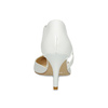 Pointed white pumps with an instep strap, white , 724-1904 - 15